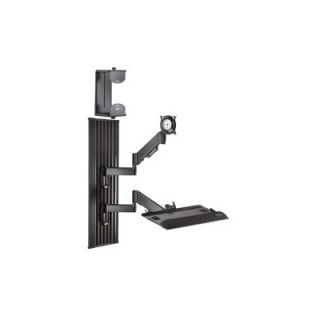 Chief Height Adjustable Single Arm Desk Monitor Mount for 10   30