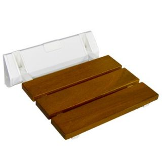 Therapeutic Tubs Teak Folding Shower Seat with Acrylic