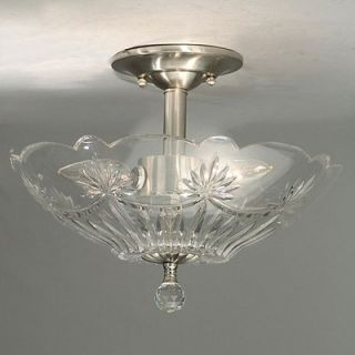Dale Tiffany Crystal Semi Flush Mount