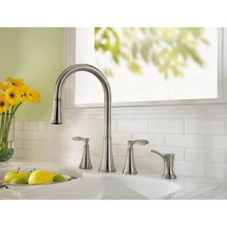 Price Pfister Petaluma Two Handle Widespread Pull Out Kitchen Faucet