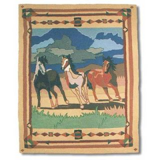 Patch Magic Wild Horses Three Horses Kids Rug   HRHWILH/HRWWILH MD