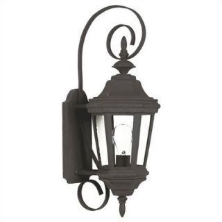 Kenroy Home Estate Small Wall Lantern in Black