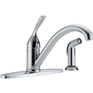 Delta Classic Single Handle Centerset Kitchen Faucet with Side Spray