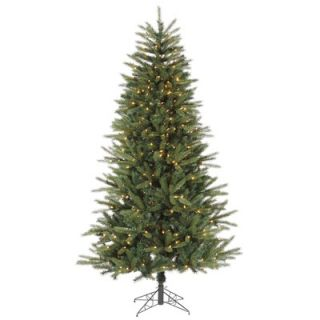 Vickerman Mocha Wide Cut 7.5 Artificial Christmas Tree with Clear