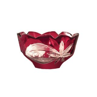 Dale Tiffany Floral Bowl in Red