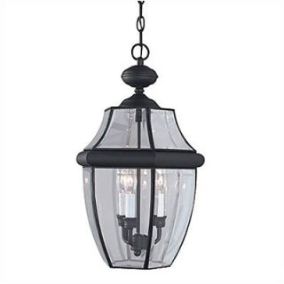 Sea Gull Lighting Classic Outdoor Brass Pendant in Black