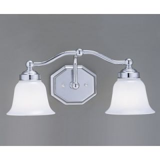 Norwell Lighting Trevi Two Light Bath Vanity with Bell Shade   8319
