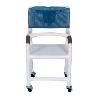 MJM International Standard Deluxe Shower Chair with Flat Stock Seat