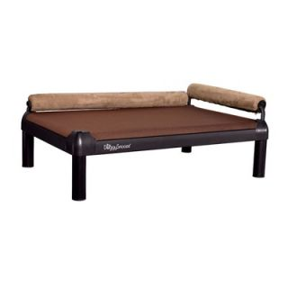DoggySnooze SnoozeLounge Dog Bed with Long Legs and a Black Anodized