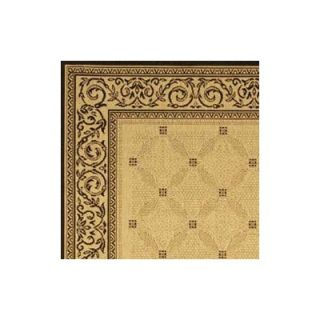 Safavieh Courtyard Ivory/Black Border Rug   CY1502 3901