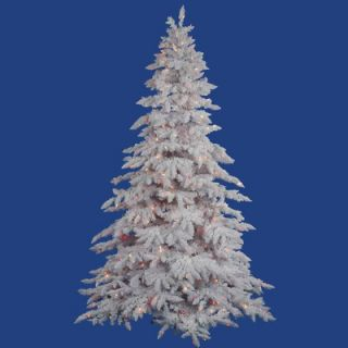 Vickerman Flocked White Spruce 4.5 Artificial Christmas Tree with