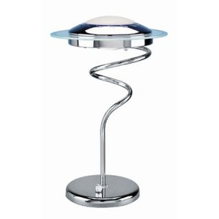 Lite Source Baby Magnify Lite Gooseneck Desk Lamp in Silver