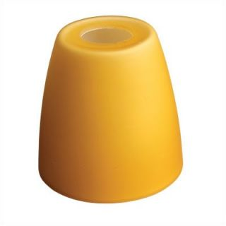 Monte Carlo Fan Company Bell Shaped Glass Shade in Amber Ice