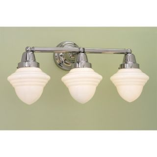 Norwell Lighting Bradford Schoolhouse Three Light Bath Vanity   8203