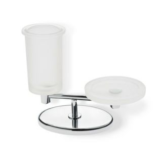 Stilhaus by Nameeks Pegaso Frosted Glass Toothbrush Holder and Soap