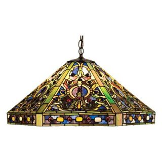 Meyda Tiffany Tiffany 3 Light Elizabethan Pendant