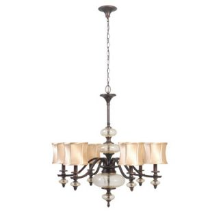 World Imports Lighting Chambord 6 Light Iron Chandelier