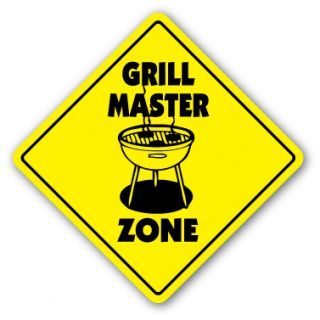 Grill Master Zone Sign Xing Gift Novelty BBQ Grilling Grill BBQ Sauce