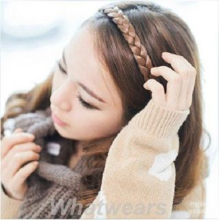 Braided Plait Plaited Wig Hair Band Headband 4 Colors TB403