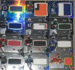 53) lot 2012 Bowman Sterling Football Auto Patch Jersey Refractor RG3