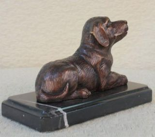 Statue Sculpture Dog Labrador Wildlife Hunting Art Deco Style Bronze