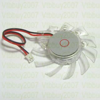 Graphics Card Cooler Cooling Fan Blade 55mm 2 0 2P Connector