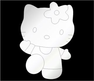Hello Kitty Shape Mirror   Modern Fun Decorative Kids Shatterproof