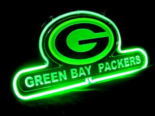 Green Bay Packers Football Beer Bar Neon Light Sign SD036