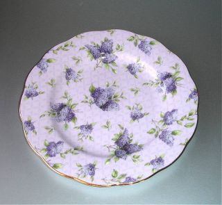 Royal Albert Hartington Lane Dessert Plate 100 Years 1990s Pink Lilac