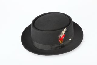 New Mens 100 Wool Pork Pie Hat All Sizes Colors