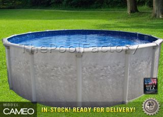27x52 Round Above Ground Swimming Pool Package 40 Year Warranty