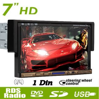 HD 1 Din In dash 7 Touch Screen Car Stereo DVD Player RDS Radio  SD