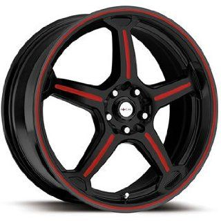 Focal F 01 16x7.5 Black Red Wheel / Rim 5x100 & 5x4.5 with a 42mm