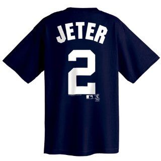 Derek Jeter New York Yankees Name and Number T Shirt, Athletic Navy