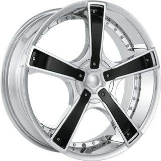 Starr Bones 18 Chrome Wheel / Rim 5x100 & 5x115 with a 35mm Offset and