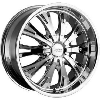 Cruiser Alloy Cake 22x9.5 Chrome Wheel / Rim 5x4.5 & 5x4.75 with a