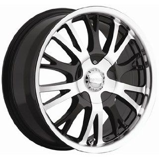 Akuza Drift 17x7.5 Machined Black Wheel / Rim 4x100 & 4x4.5 with a