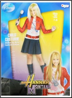 Hannah Montana Dress Red Jacket Wig Costume 7 8