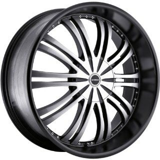 Strada Venti 22 Black Wheel / Rim 5x4.5 & 5x120 with a 18mm Offset and