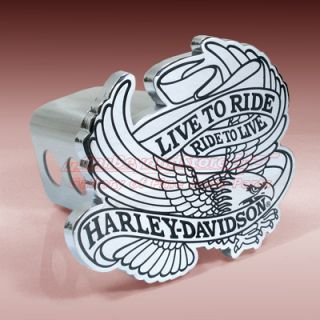 Harley Davidson Live to Ride Eagle 3D Tow Hitch Cover Licensed Free