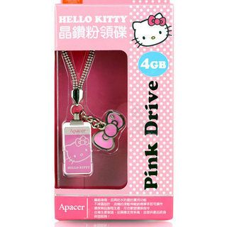 New Apacer AH129 4GB Hello Kitty USB Flash Drive