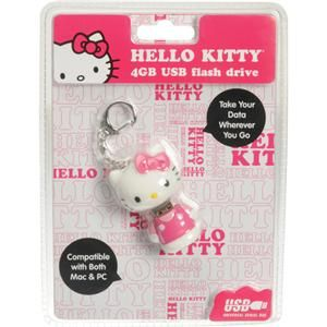 hello kitty 4 gb usb flash drive for mac and pc new
