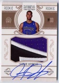 Hassan Whiteside AUTO National Treasures Rookie Prime Patch 99 KINGS