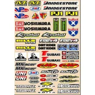 Style Small Logo Decal Sheets Motocross Motorcycle Graphic Kit