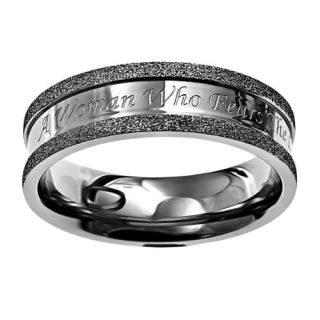Christian Womens Stainless Steel Abstinence Silver