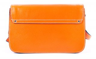 Kate Spade Fynn Wellesley Orange Sherbet Leather Crossbody Handbag
