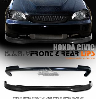 2001 2003 Honda Civic T R Style ABS Front Rear Bumper Lip Spoiler Body