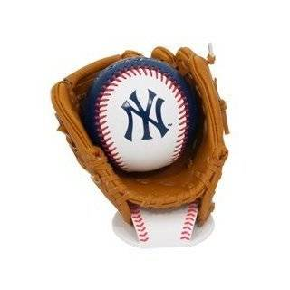 K2 New York Yankees Baseball and Glove Set With Stand