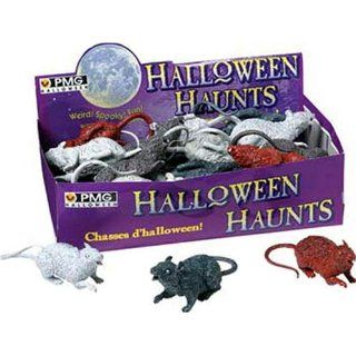 24 Realistic Rubber Rats Halloween Prop