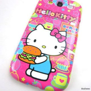 Hello Kitty Hot Pink Hard Case Phone Cover for Samsung Galaxy s III 3